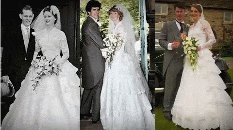 Aww! Check Out The History Of This Bride's Wedding Dress (Photos)