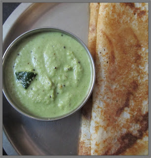 chutney with dosa