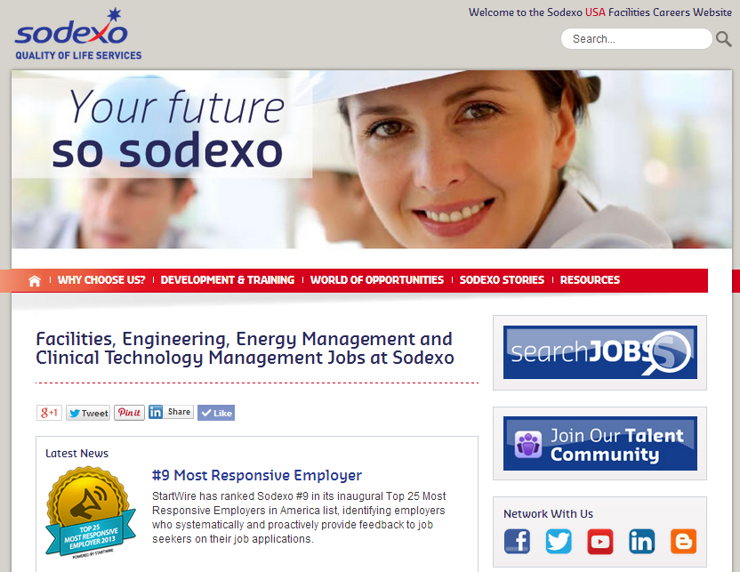 Sodexo Facilities Management Careers