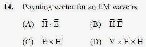 2013 September UGC NET in Electronic Science, Paper III, Question 14