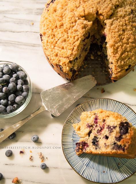 Blueberry Streusel Coffee Cake