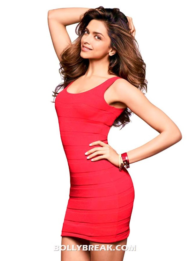Deepika Padukone in red dress on  Womens Health Magazine - (3) - Deepika Padukone Women's Health Magazine Sans 2012