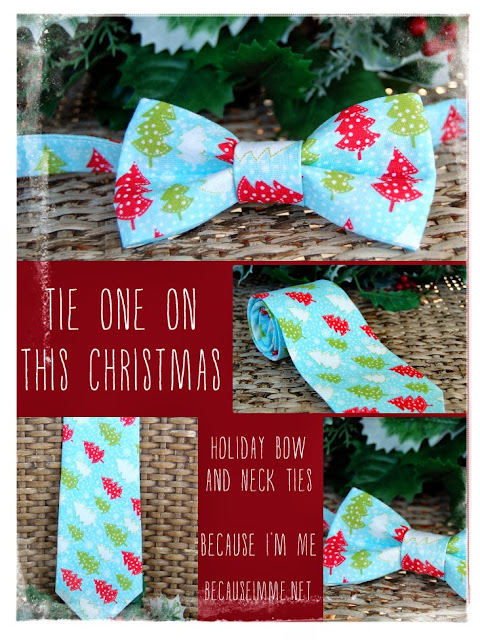 Because I'm Me Christmas tree bow and neck ties, available for men and boys