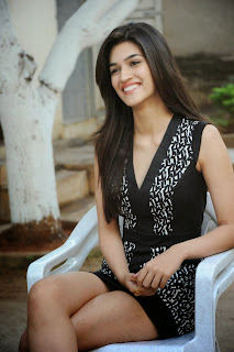 Kriti Sanon Looks Beautioful and Cute in Short Black Dress with her long Legs
