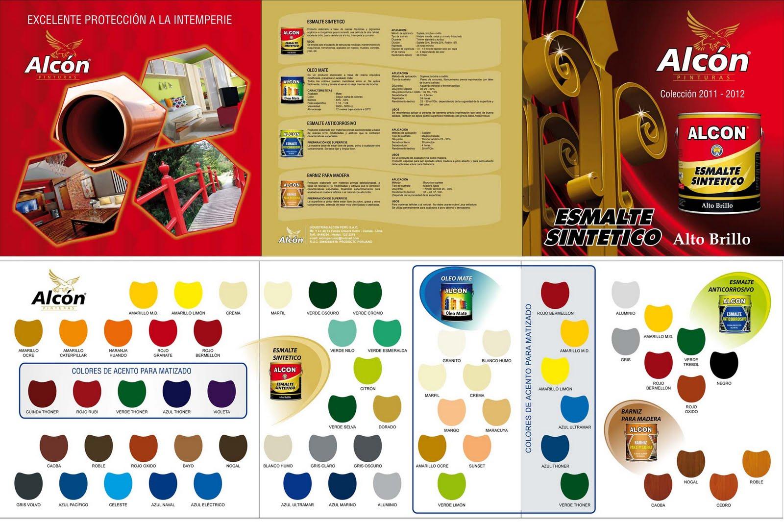 Catalogo de pinturas alcon arte dise o y publicidad - Catalogo pinturas bruguer ...