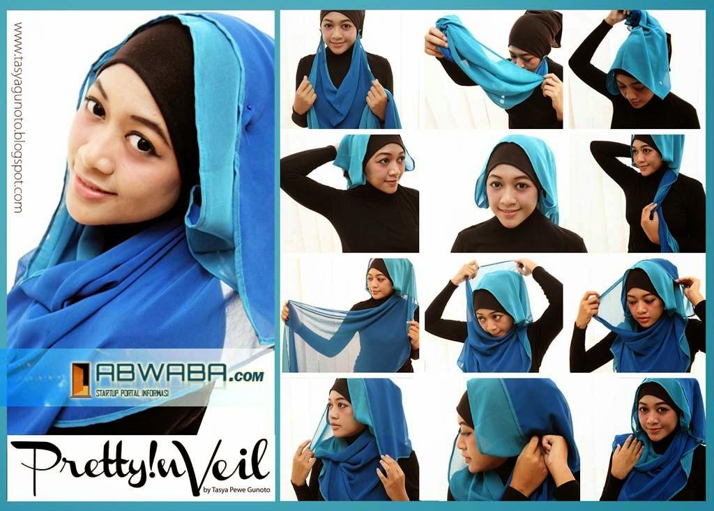 Cara cara memakai jilbab modern