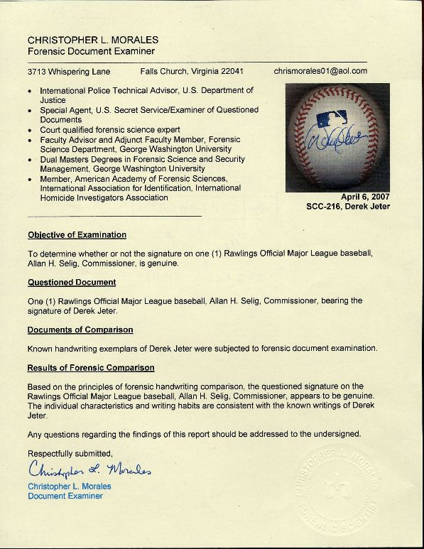 jsa authentication spence james certificate memorabilia authenticating fails agenda pushing certified authentic already pieces certainly likely fail seems piece any