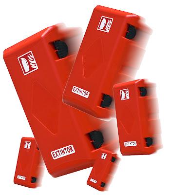 Armario extintor en PVC para extintores de 6 y de 9/12 Kgs