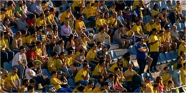 Aficionados de UD Las Palmas en Leganés