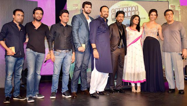 Amitabh Bhattacharya, Shekhar Ravjiani, Bhushan Kumar, Nikitin Dheer, Rohit Shetty, Shahrukh Khan, Priyamani