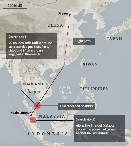 Route MH370 Flight Details