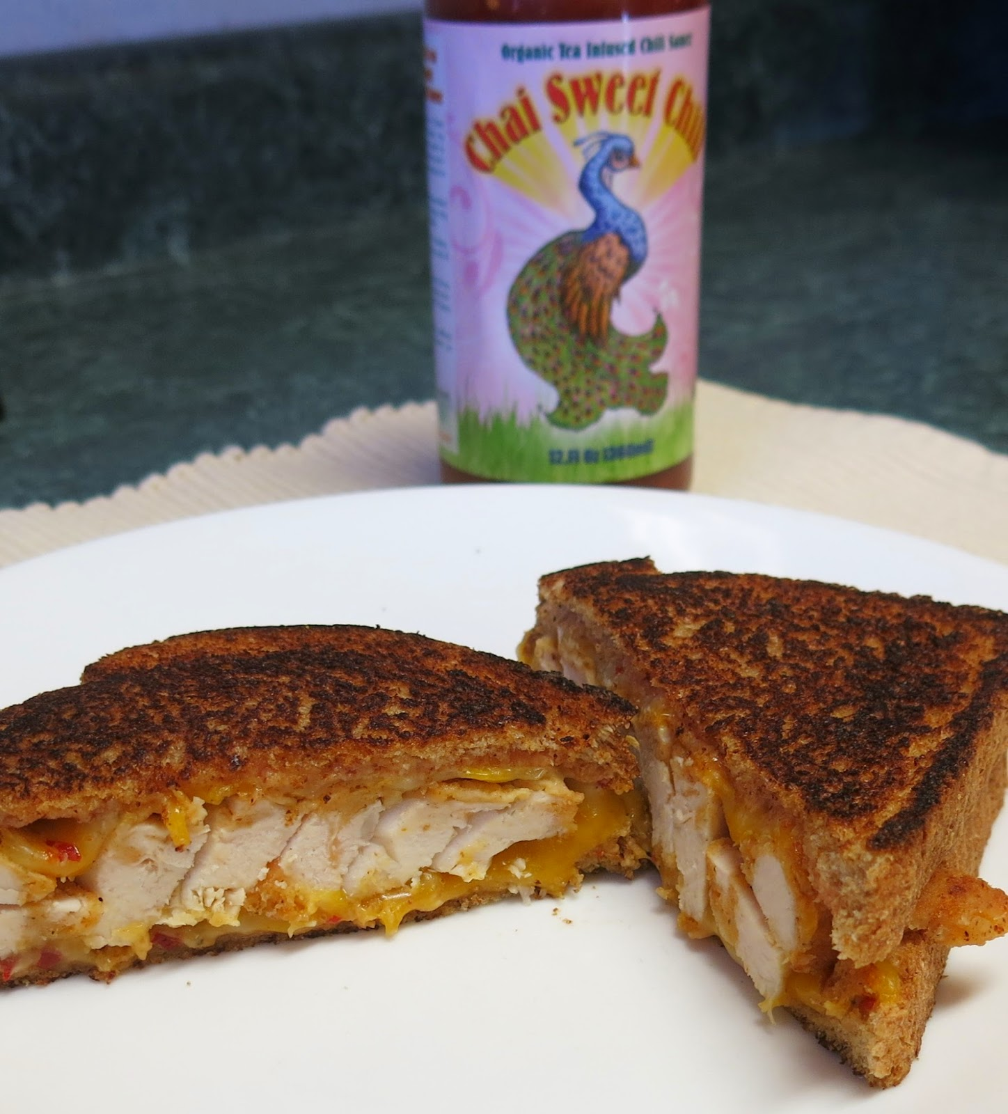 ... : Chai Sweet Chili Chicken Grilled Cheese Sandwich #TripleSBites