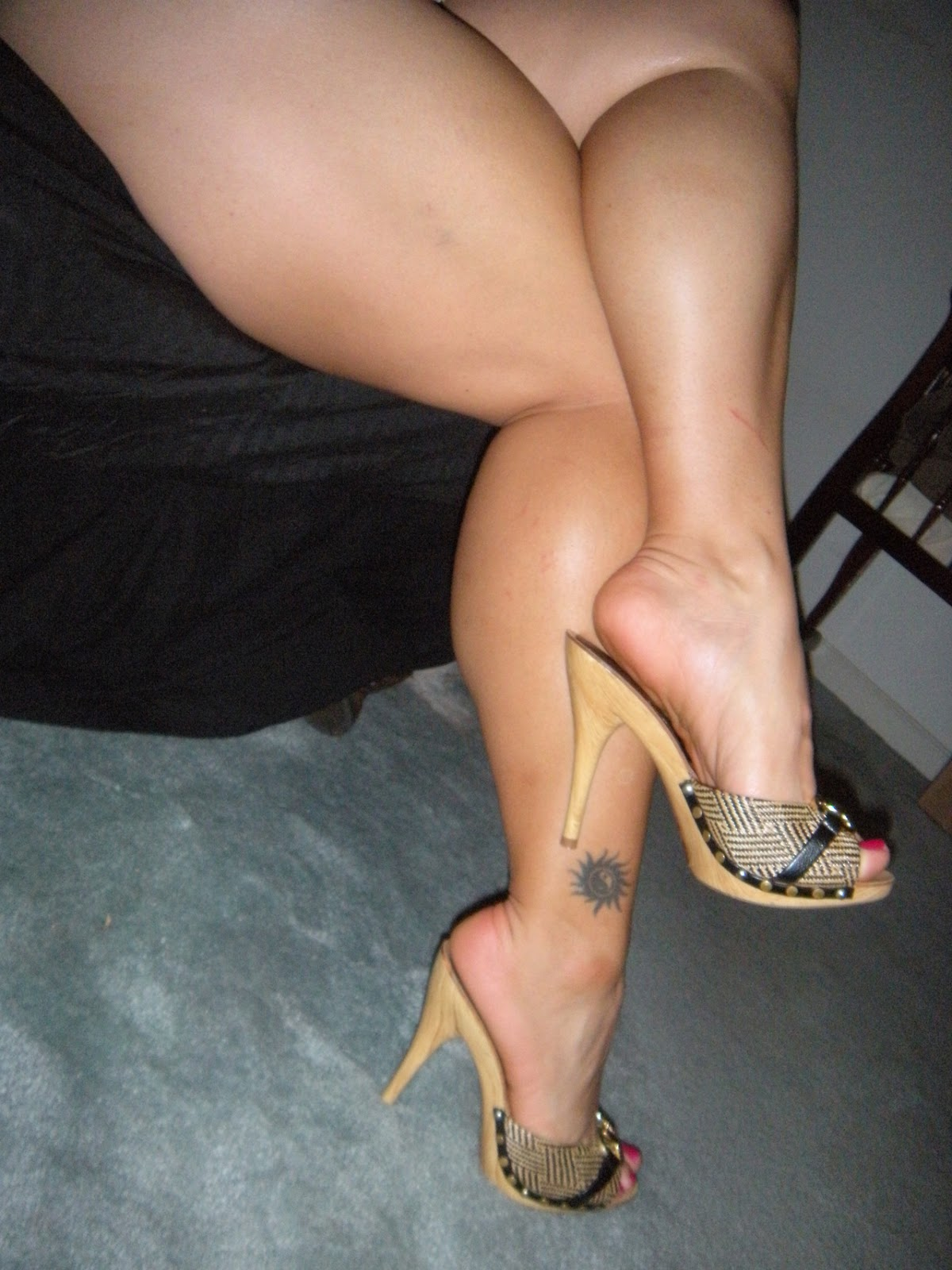 Arched soles domination footjob