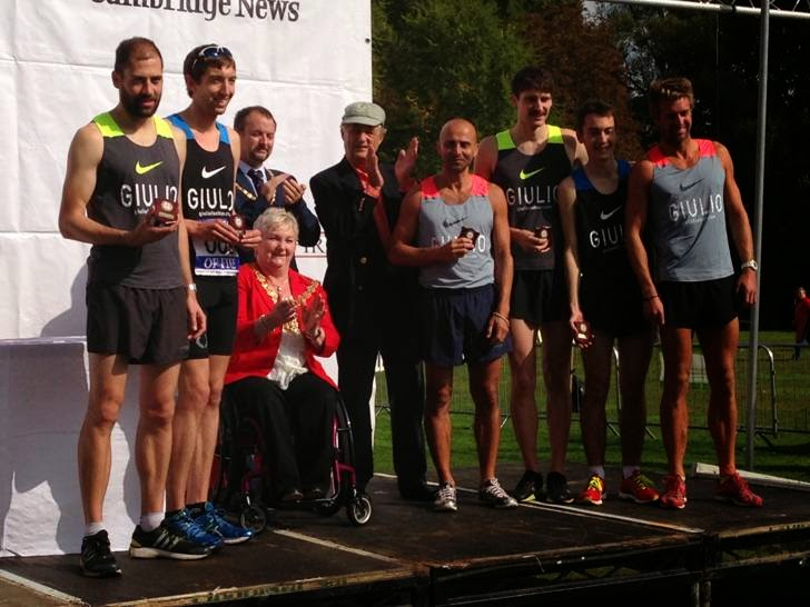 Giulios Fashions team for 23rd Chariots of Fire race Cambridge