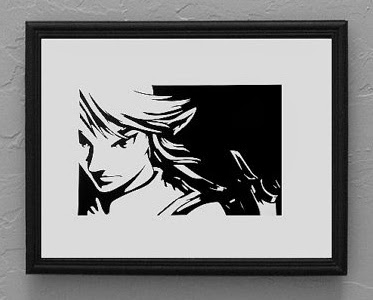 Link from Legend of Zelda papercut by Cutting Pixels