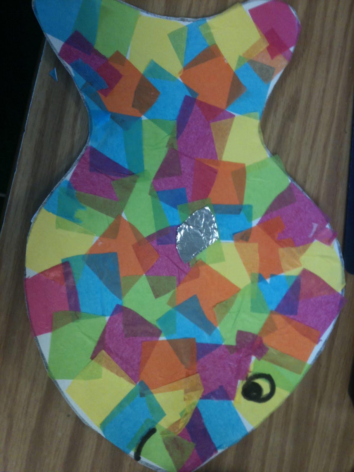 Kreative in kinder rainbow fish for Rainbow fish craft