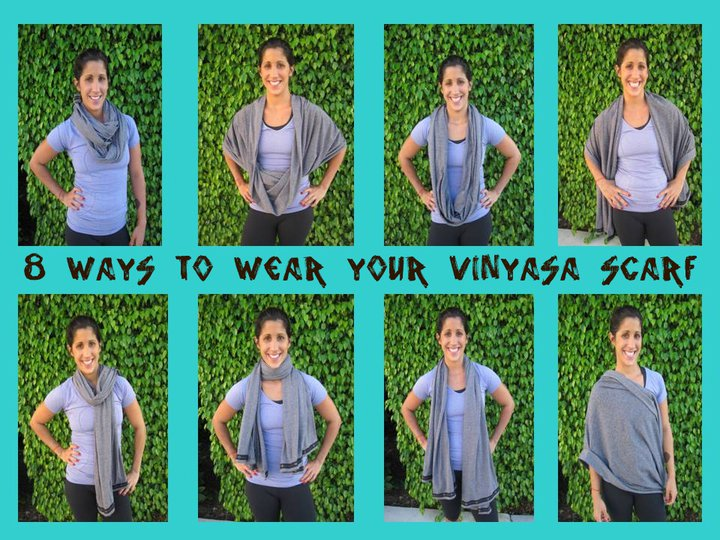 Lululemon Addict Photos Ways To Wear The Vinyasa Scarf