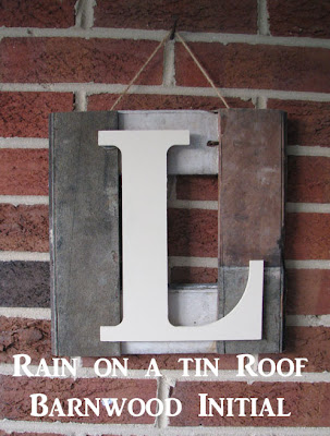 DIY Barn Wood Monogram {rainonatinroof.com} #DIY #Monogram #Initial #barn #wood