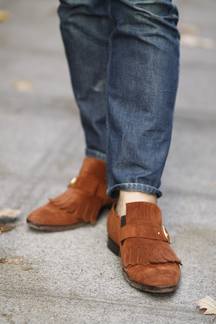 mens suede slip ons seattle street style fashion