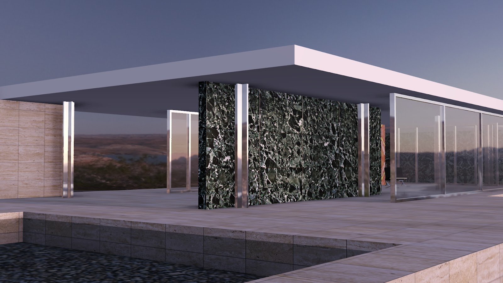 Barcelona Pavilion Materials Related Keywords - Barcelona ...