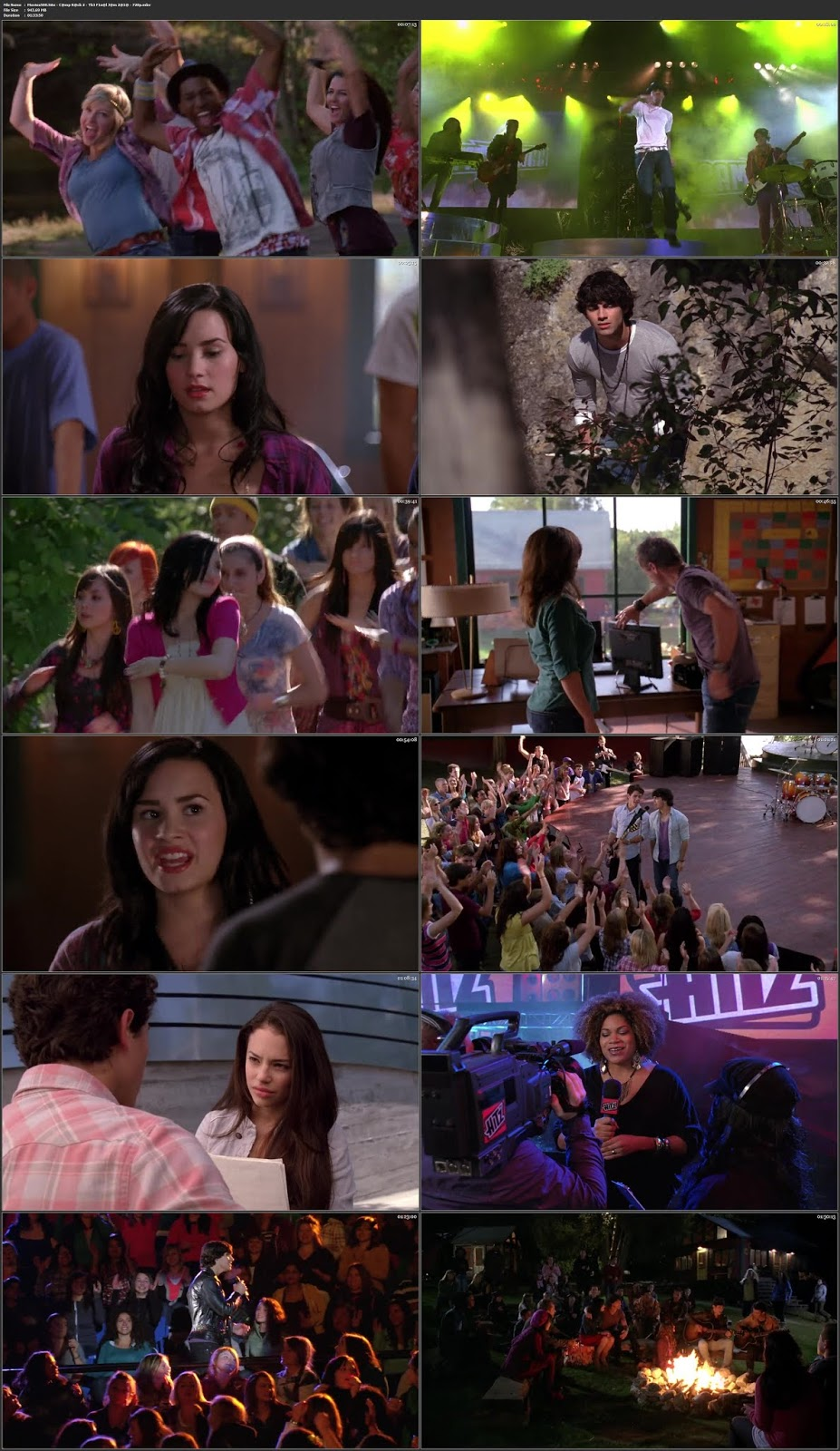 Camp Rock 2: The Final Jam 2010 Hindi 300MB Movie WEBDl 480p