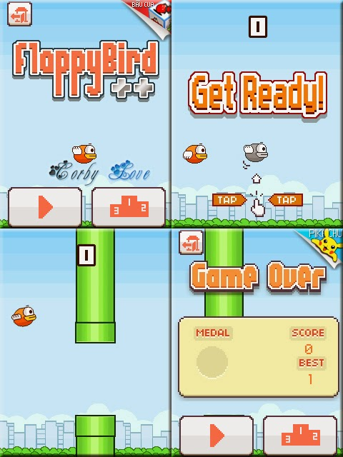 Flappy Bird MOD 240 x 320 Touchscreen Java Mobile Game