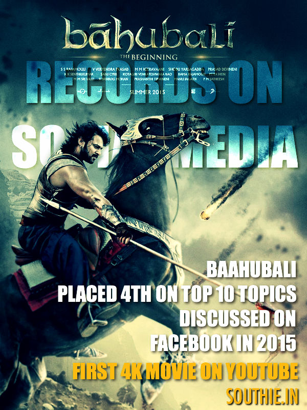 Baahubali records on Social Networking sites. Baahubali still carries huge craze around it. Baahubali, Rana Daggubati, S S Rajamouli, Rebel Star, Records, huge movie, Big records,