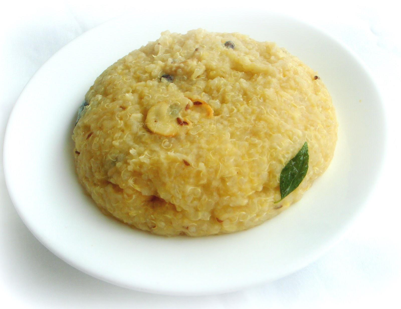 Quinoa khara pongal recipe recipes 1cup quinoa forumfinder Image collections