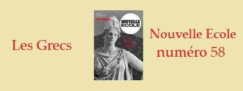"""Nouvelle Ecole 58 """"Les Grecs"""" via Krisis Diffusion"""