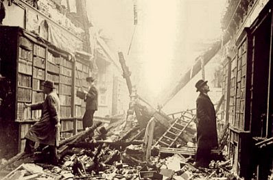 A London library during the Blitz