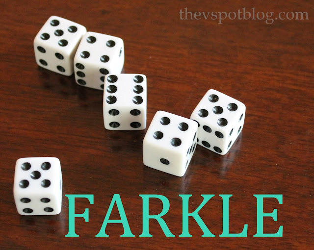 Farkle dice game - great for camping.