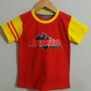 Baju Anak Karakter Batman Logo Merah Size 1 - 6 Tahun