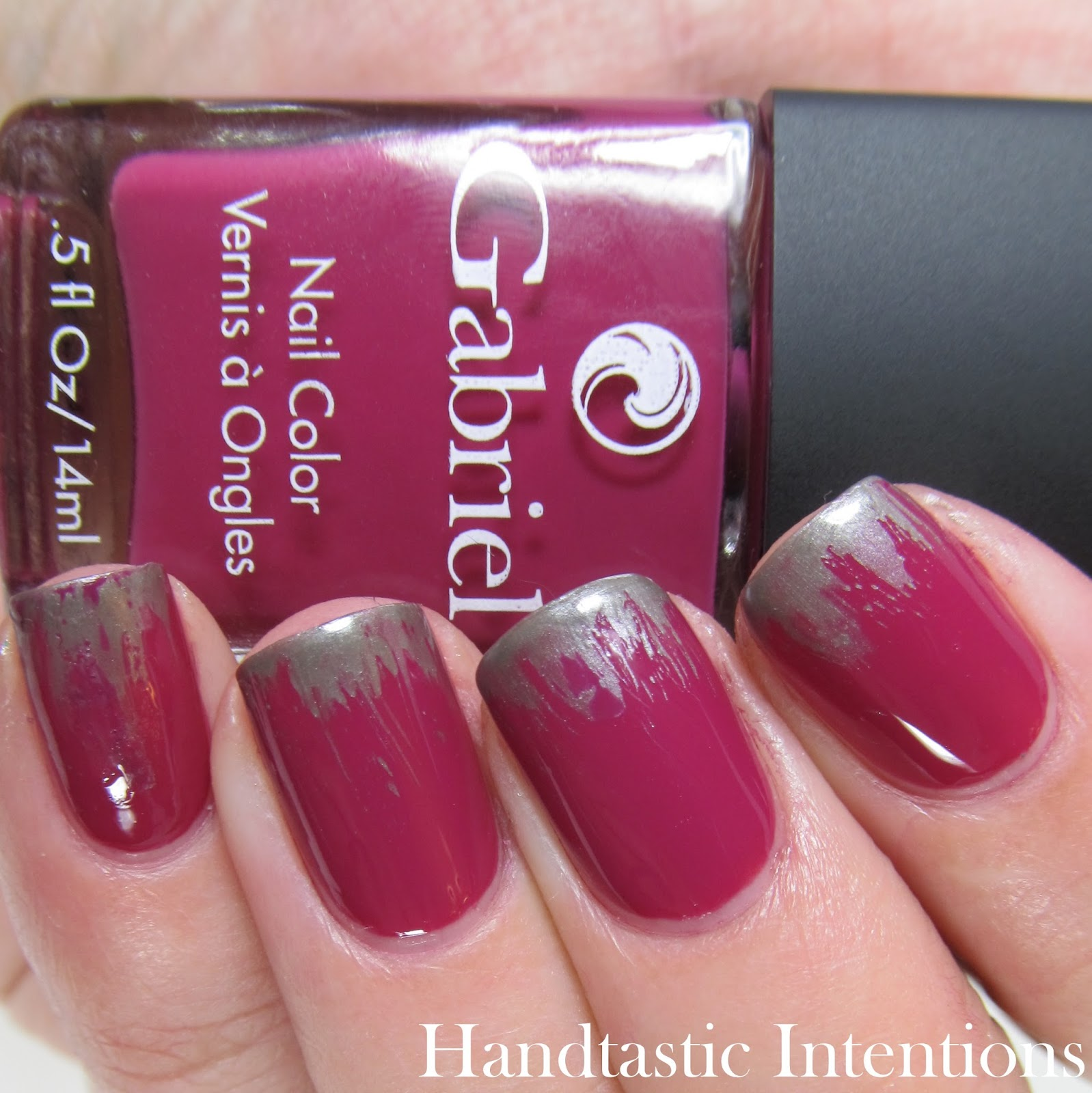 Handtastic Intentions: Work Wear Wednesdays: Dry Brush French Tip