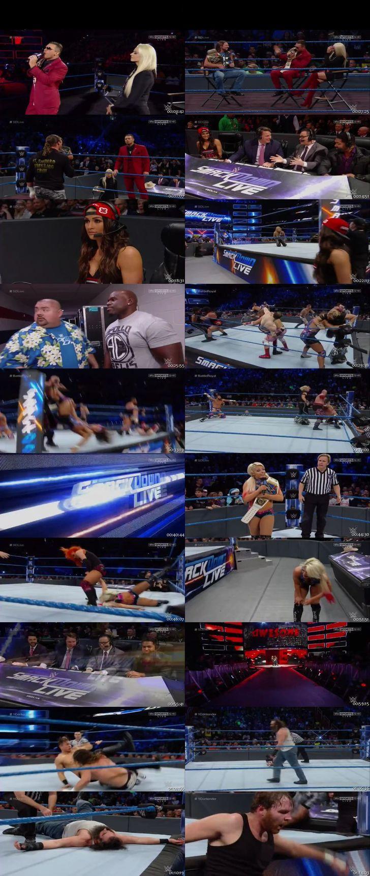 Screen Shot Of WWE SmackDown Live 13th December 2016 HDTV 480P 375MB