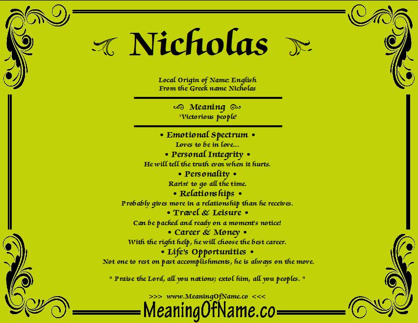 429 Definition Of Nicholas Name 722 ***