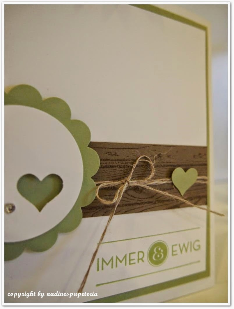 Und Zwar Habe Ich Heute Für Euch Eine Einladung Zur Hochzeit. Quadratisch,  Zum Herausziehen Und Mit Holzoptik. In Der Farbe Farngrün.