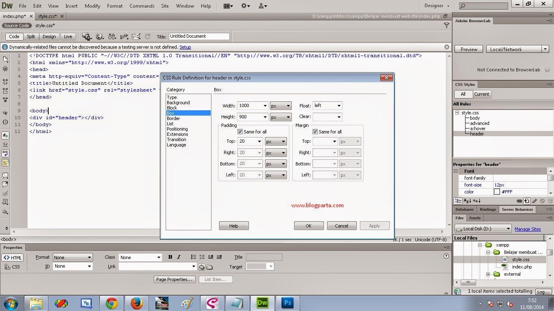 Belajar dreamweaver bagaimana cara membuat header dan - Div id header ...