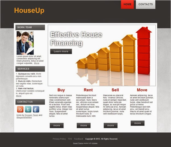 HouseUp - Free Drupal Theme