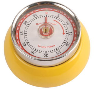 magnetic retro-looking timer, yellow