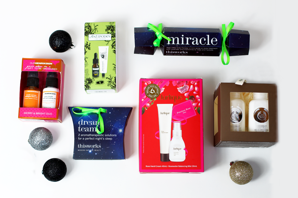 A beauty blogger writes a christmas guide to stocking fillers including The Body Shop, This Works, Antipodes and Jurlique