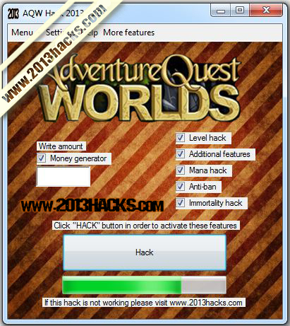 Adventure Quest Worlds Hack 2013