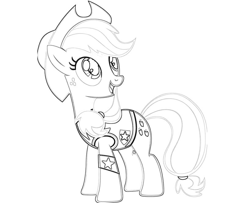 #29 My Little Pony Applejack Coloring Page