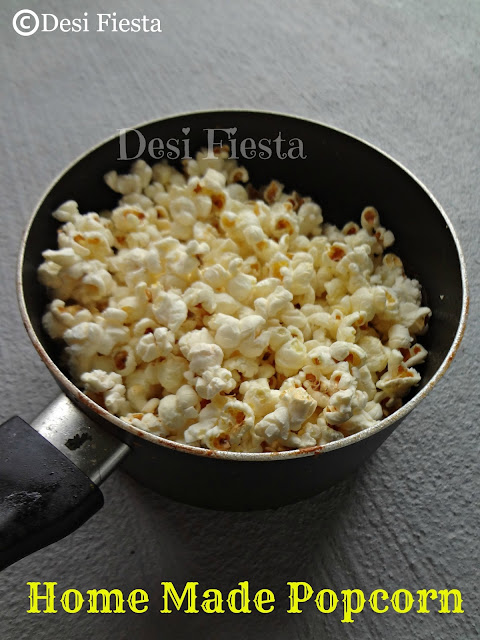 Recipe to make Popcorn on stove Top