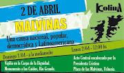 El próximo 2 de abril, la Corriente de Liberación Nacional KOLINA . flyer malvinas