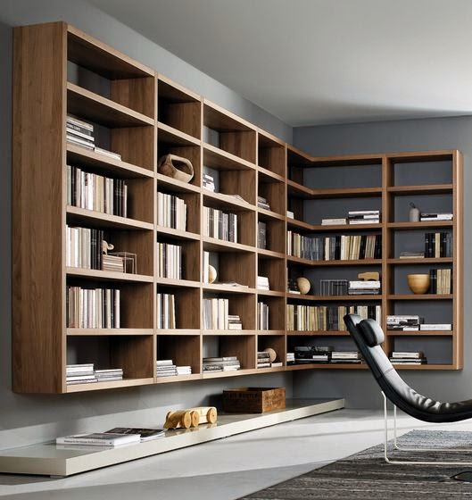 10 fotos de librer as para el sal n - Estanterias modernas de pared ...