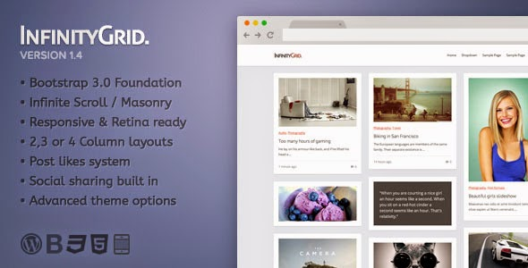 Infinitygrid - Personal blogging theme version 1.4