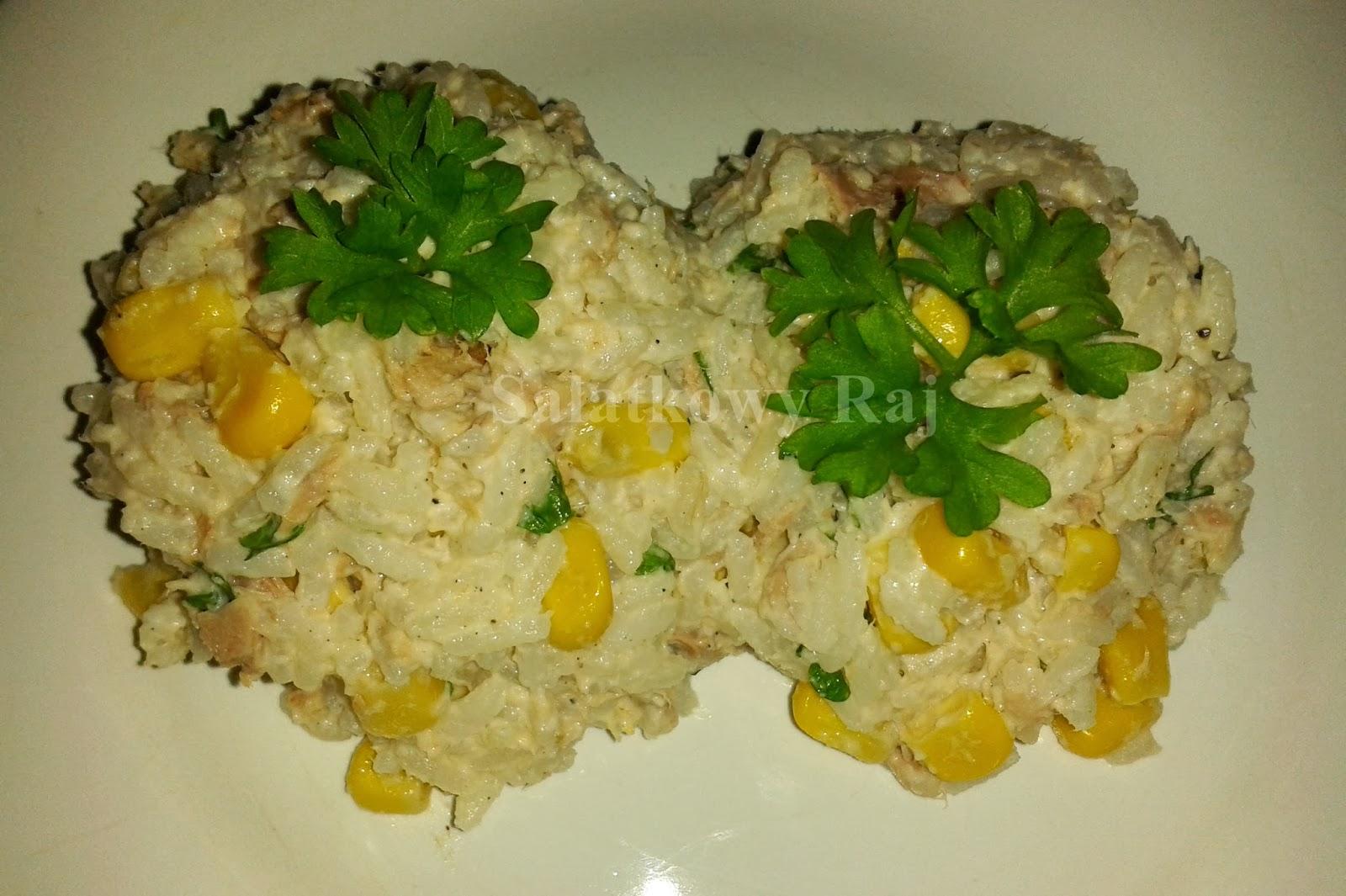 Salatkowy Raj Salatka Z Tunczykiem Ryzem Kukurydza I Natka