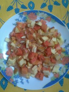 simple fruit salad without dressing