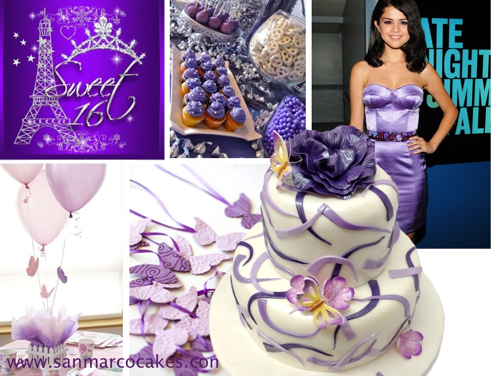 San Marco Cakes Ideas For Sweet 16 Purple Cake Birthday Cake