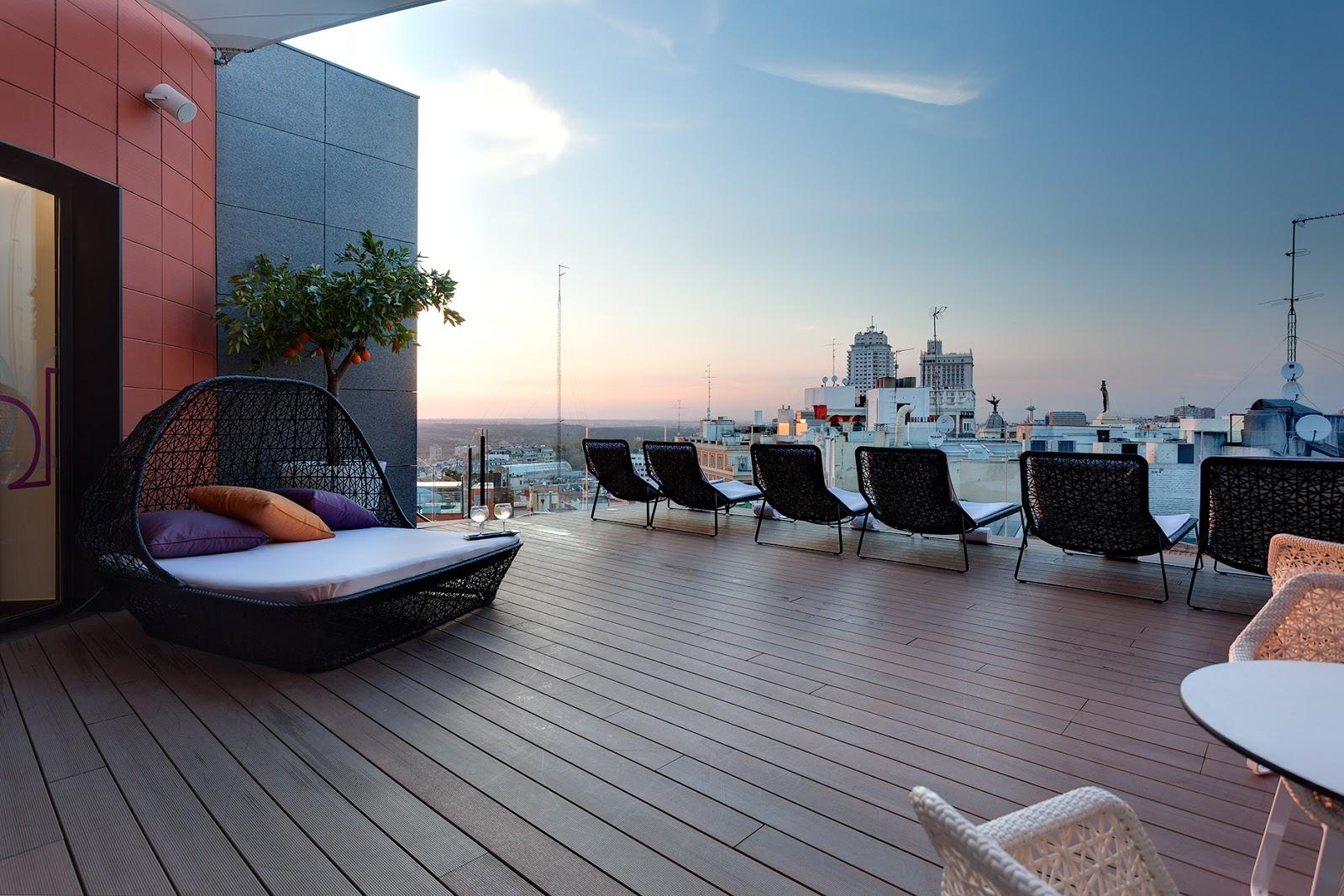 Azoteas y terrazas de hotel con vistas maravillosas de madrid for Azoteas madrid